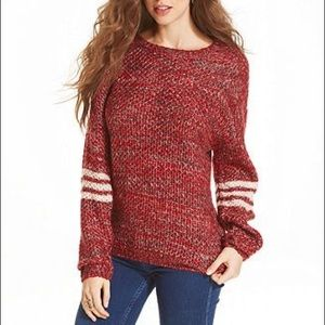 Jessica Simpson Red Marled Knit Sweater